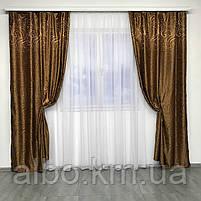 Готовые жаккардовые шторы для зала спальни детской, шторы для кухни комнаты квартиры, портьеры для дома, фото 8