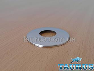 """Круглий декоративний фланець-чашка D67 / висота 5 мм із нержавіючої сталі, внутрішній розмір 3/4"""" (D26 мм)"""