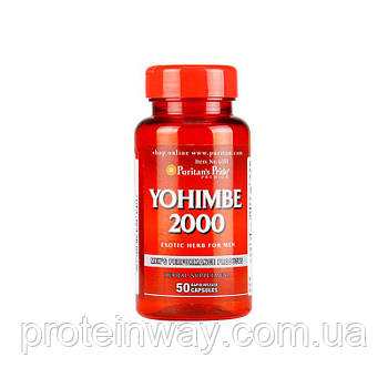 Йохимбин Puritan's pride Yohimbe 2000 мг 50 капс