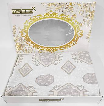 Покрывало My Bed Жакард 200x240 Модель 2 Gold-Cappucino