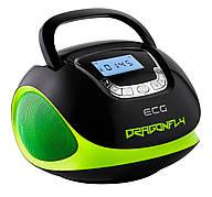 Радиочасы ECG R 500 U Dragonfly Черный/ Зеленый
