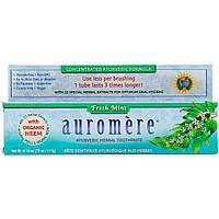 Auromere, Аюрведическая зубная паста на травах, свежая мята, 117 г (4,16 унции) оригинал