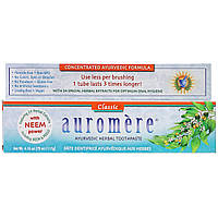 Auromere, Аюрведическая зубная паста на травах, классическая, 117 г (4,16 унции) оригинал