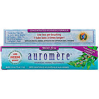 Auromere, Аюрведическая зубная паста на травах, не содержит мяты, 4,16 унции (117 г) оригинал