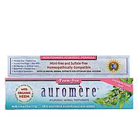 Auromere, Аюрведическая зубная паста на травах, не образующая пены, со вкусом кардамона и фенхеля, 4,16 унции