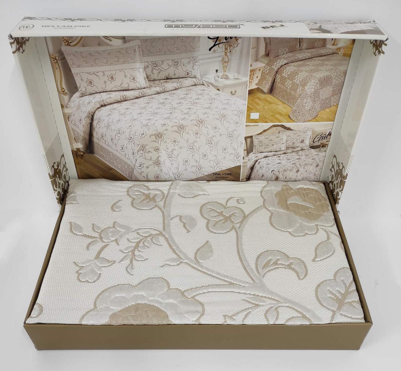 Покривало My Bed Жакард 240x260 з наволочками Gul Bej