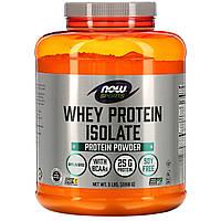 Now Foods, Sports, изолят сывороточного протеина, без добавок, 2268 г (5 фунтов)
