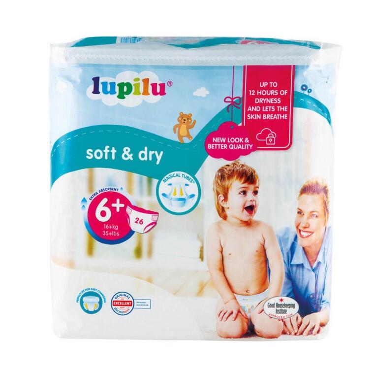 Підгузки дитячі Lupilu Soft & Dry №6+ (16+ кг) 26 шт