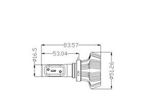 Комплект LED ламп в основные фонари серии G7 под цоколь HB3/9005 24W 4000 Люмен/Комплект, фото 2