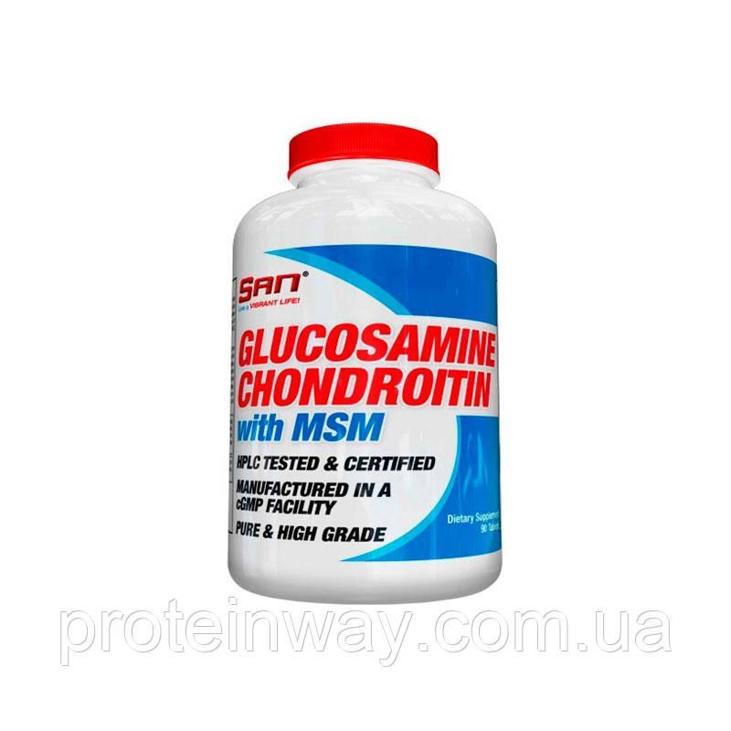 Глюкозамин хондроитин мсм SAN Glucosamine Chondroitin MSM 90 таб