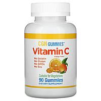 California Gold Nutrition, жевательные конфеты с витамином C, натуральный вкус, 90 конфет