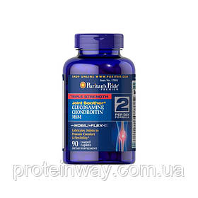 Суглоби і зв'язки Puritan's Pride Glucosamine Chondroitine MSM 90 таб