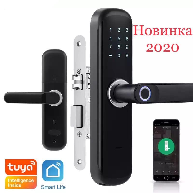 Умный дверной кодовый замок с отпечатком пальца Tuya на карта Пароль управления с телефона
