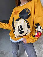 Світшот (батник) з Міккі Маусом жіночий (ПОШТУЧНО), фото 1