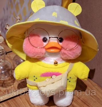 """Мягкая игрушка уточка """"Cafe-mimi duck"""" в желтой шляпе, 30см"""