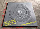 Противень гриль чугунный жаровня сковорода для барбекю 355х250 мм мангал, решетка, фото 4