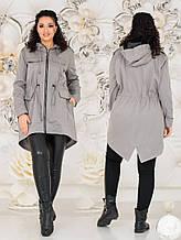 Куртка парка женская на подкладке 48-50, 52-54