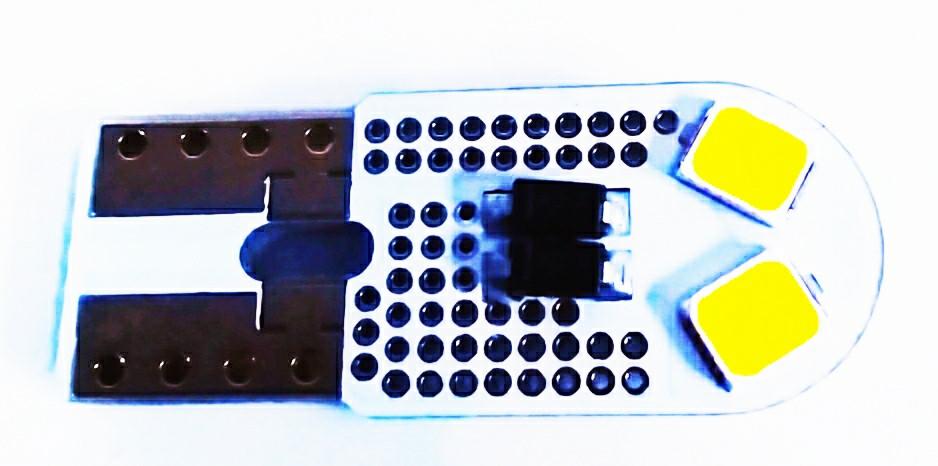 Автолампа LED діод T10 W5W 4 SMD Cree 12В 5Вт Білий MIU