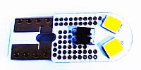 Автолампа LED діод T10 W5W 4 SMD Cree 12В 5Вт Білий MIU, фото 1
