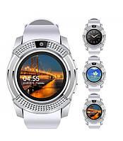 Смарт часы (Smart Watch) Умные часы V8 Белые