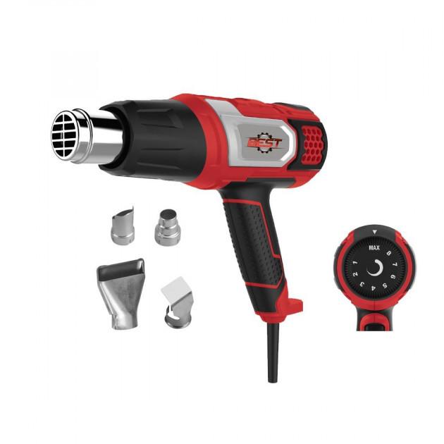 Фен промышленный Best ФП-2200Е, сменные насадки, 2 режима работы, регулятор температуры, 12 месяцев гарантии