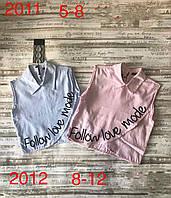"""Блузка дитяча екслюзивна з коміром на дівчинку 5-8 років(2цв)""""MATILDA""""купити недорого від прямого постачальника"""