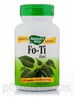 Экстракт корня Фо-Ти в капсулах, Fo-Ti, Он Шоу Ву, 610 мг 100 капсул