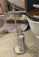 Стойка для туалетной бумаги и ершика напольная в стиле ретро StilHaus Elite EL 20.08