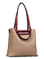 Ділова жіноча шкіряна сумка в 2х кольорах L-DL92065-1