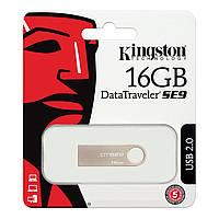 Флеш накопитель для передачи данных Kingston SE9 металл, 16Gb, USB 3.0, флешка Kingston, флешка на 16GB,, фото 1