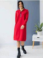Спортивное платье худи с замком S, M, L, XL