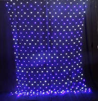 Новогодняя светодиодная гирлянда 180 диодов сетка