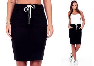 Черная спортивная юбка (Код MF-049) М