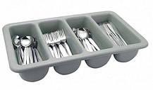 Ящик пластиковий чотирьохсекційний для зберігання столових приладів 510 * 280 * 90 мм (шт)