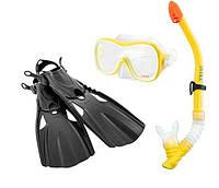 Набор для плавания детский маска для снорклинга ласты трубка Intex 55658 от 8 лет