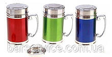 Round stainless steel thermo mug of different colors V 280 ml (pcs)
