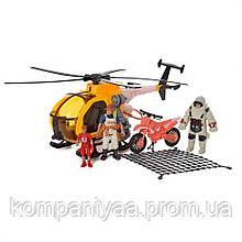 """Детский игровой набор """"Спасателей"""" с вертолетом и лодкой F120-27"""