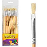 Кисть для рисования №4 Camellia цена за 25 шт, Щетина, дерево, кисть для красок, кисть для рисования