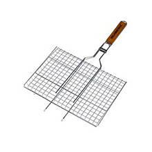 Решетка нержавеющая прямоугольная для гриля - барбекю 460 * 260 мм шт
