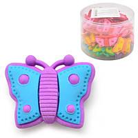 Ластик для удаления надписей Бабочка за 36 шт, разные цвета, нестандартная, ластик, ластик для удаления