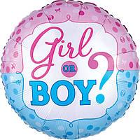 """Фольгована кулька """"Boy or Girl"""" 18"""""""