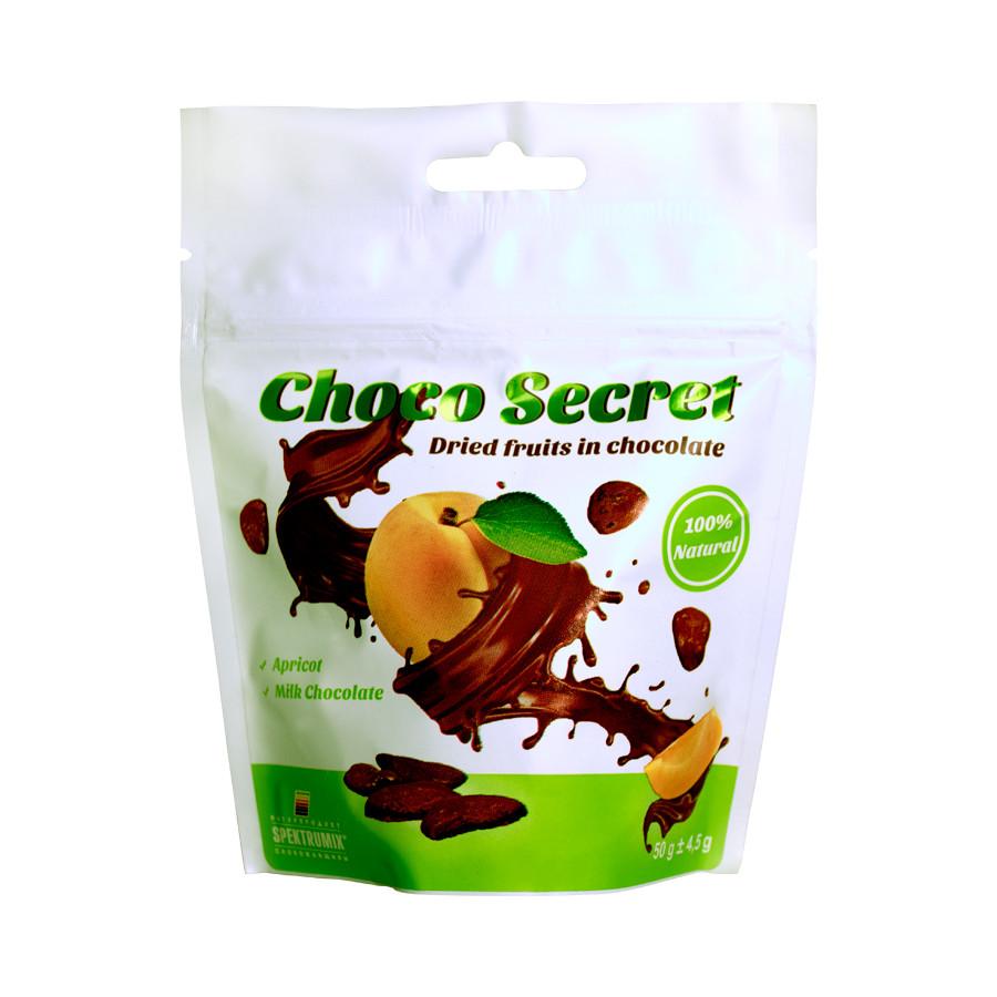 Цукерки з сухофруктів в шоколаді Choco Secret. Абрикос, 50 г