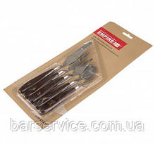 Stainless steel kitchen tool with plastic handles (set of 5 pcs)
