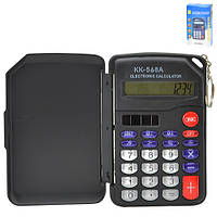 Калькулятор брелок карманный KK-568A разные цвета, 8-разрядный, пластик, карманный калькулятор, калькулятор