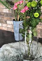 Ваза фигурная  для флористики.  h  32 см,  15,5 см .