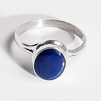 Серебряное кольцо с сапфиром звездчатым, 1637КС