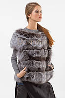 Жилет Dominik the fur  Фортуна  46 Чернобурка (04523)