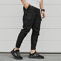 Штаны Карго черные   Мужские спортивные штаны