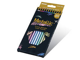 Цветные карандаши Marco 12 цветов Metallic