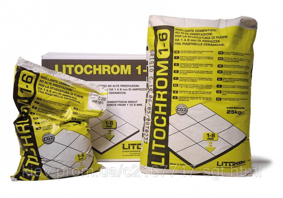 Litokol LITOCHROM 1-6 - цементная затирка для швов шириной от 1 до 6 мм 5 кг (С200, С710)  -  СГТ в Киеве